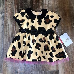 Harajuku Mini Leopard Animal Print Pink Dress